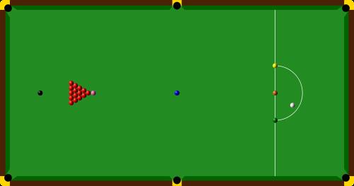 Position de départ du snooker